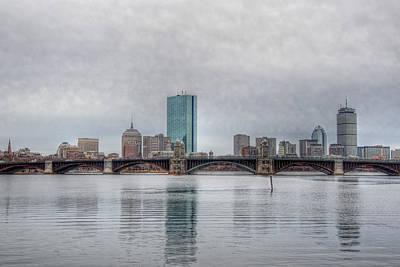 Boston Skyline On A Grey Day Print by Joann Vitali