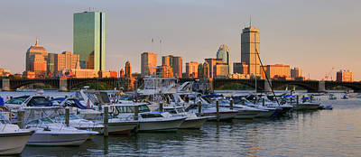 Boston Skyline Sunset On The Charles Print by Joann Vitali