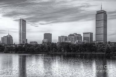 Boston Skyline Vi Print by Clarence Holmes