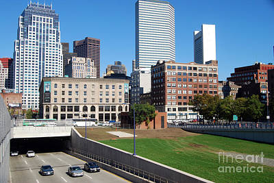 Boston Southeast Expressway Print by Rosemarie Morelli