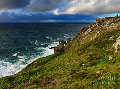 Engine House Photograph - Botallack Crown Mines by Louise Heusinkveld