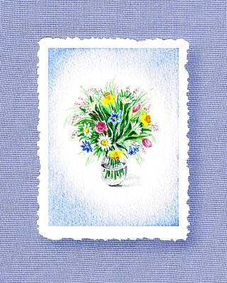 Glass Vase Painting - Botanical Impressionism The Burst Of Flowers  by Irina Sztukowski