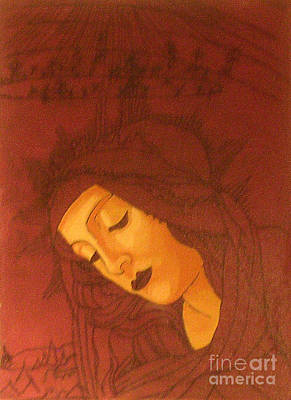 Botticelli Madonna In Sepia Original by Genevieve Esson