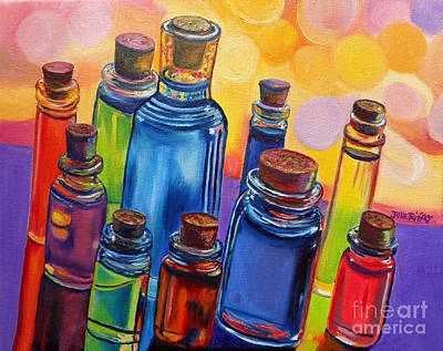 Bottled Rainbow Print by Julie Brugh Riffey