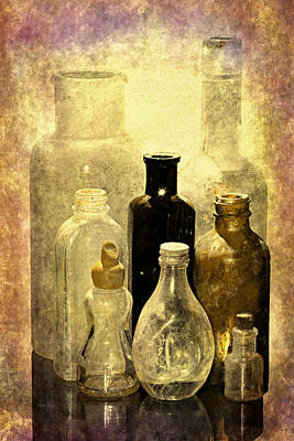 Relic Glass Photograph - Bottles From The Past by Phyllis Denton