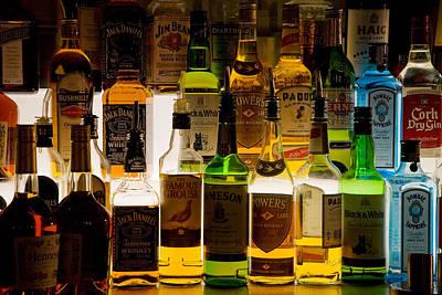 Of Liquor Photograph - Bottles Of Liquor, De Luans Bar by Panoramic Images