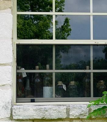 Reflections On Bottle Photograph - Bottles On The Sill by Elizabeth Sullivan