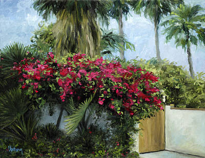 Haleiwa Painting - Bougainvillea by Stacy Vosberg
