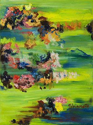 Boughs Green Print by Vanessa Shinmoto