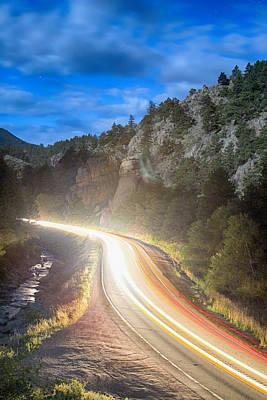 Boulder Canyon Neon Light  Print by James BO  Insogna
