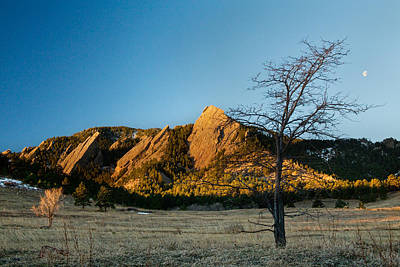 Boulder Colorado Flatirons Early Morning Light Print by James BO  Insogna