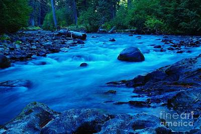 West Fork Photograph - Boulder In The Rapids  by Jeff Swan