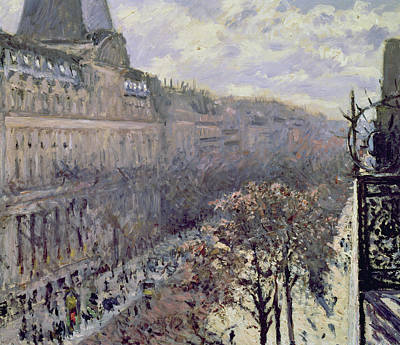 Grate Painting - Boulevard Des Italiens by Gustave Caillebotte