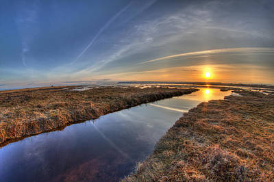 8mm Photograph - Boundary Bay B.c Sunset by Pierre Leclerc Photography