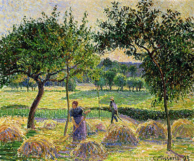 Bountiful Harvest, 1893 Print by Camille Pissarro