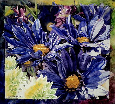 Iris Painting - Bouquet Blues by Jeffrey S Perrine