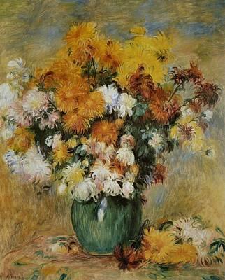 Pierre-auguste Renoir Painting - Bouquet De Chrysanthemes by Pierre-Auguste Renoir