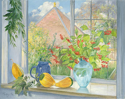 Window Signs Painting - Bouquet Garnie by Timothy  Easton
