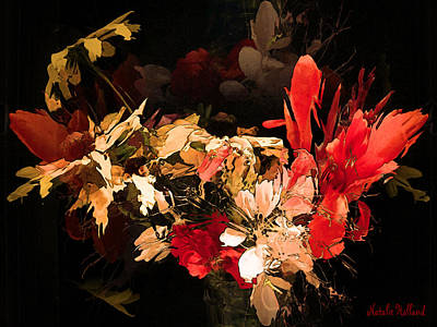 Lazy Mixed Media - Bouquet by Natalie Holland