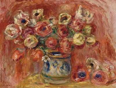 Pierre-auguste Renoir Painting - Bouquet Of Flowers by Pierre-Auguste Renoir