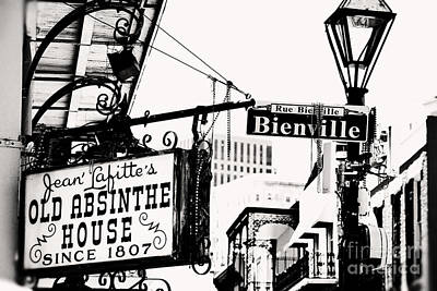 Bourbon And Bienville Print by Erin Johnson