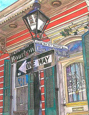 Bourbon Street Painting - Bourbon And Nicholls by John Boles