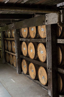 Bourbon Barrels Print by Jim West
