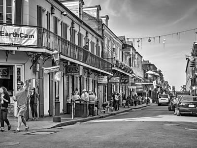 Bourbon Street Afternoon Bw Print by Steve Harrington