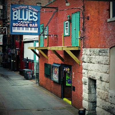 Medium Format Film Digital Art - Bourbon Street Blues by Linda Unger