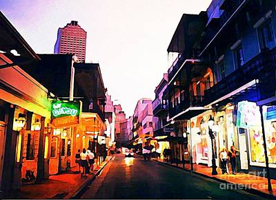 Bourbon Street Early Evening Print by John Malone