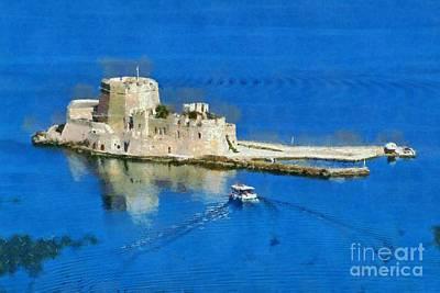 Bourtzi Fortress Print by George Atsametakis