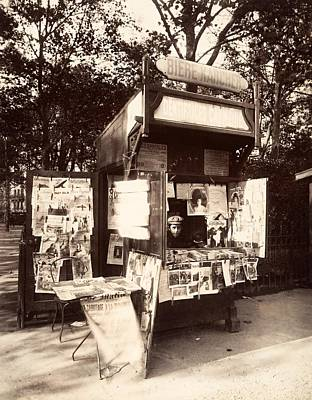 Paris Photograph - Boutique Journaux Rue De Sevres Paris 1910 by Vintage Printery