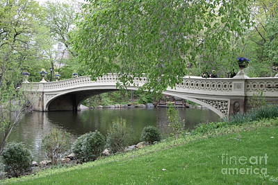 Bow Bridge Central Park N Y C Print by Christiane Schulze Art And Photography