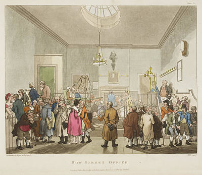 Microcosm Photograph - Bow Street Office by British Library