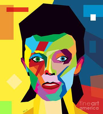 British Digital Art - David Bowie by Mark Ashkenazi