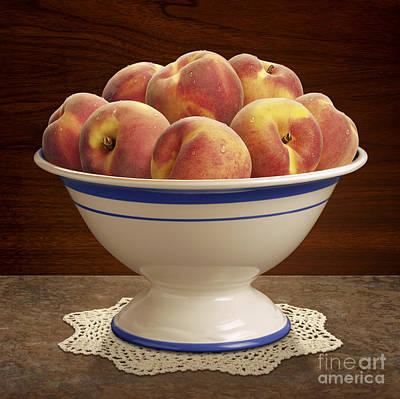 Peach Digital Art - Bowl Of Peaches by Danny Smythe