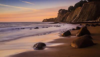 Bowling Ball Beach Sunset Print by Karma Boyer