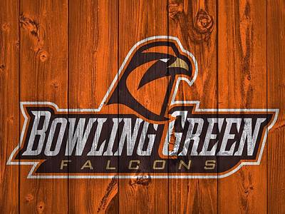 Falcon Mixed Media - Bowling Green Falcons Barn Door by Dan Sproul