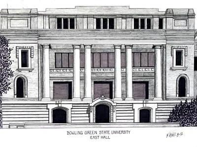 Bowling Green State University Print by Frederic Kohli