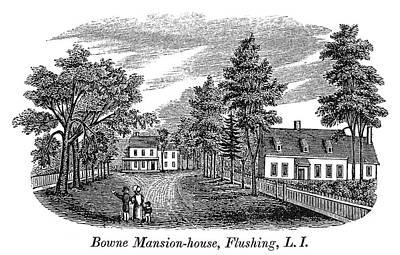 Bowne House, 1661 Print by Granger