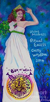 Box Wine Painting - Box Of Wine Queen Lou Lou by Mardi Claw