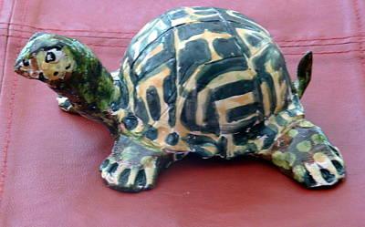 Sculpture - Box Turtle Sculptue by Debbie Limoli