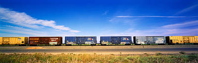 Boxcars Railroad Ca Print by Panoramic Images