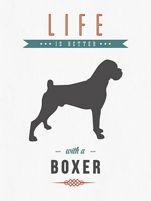 Boxer Dog Mixed Media - Boxer 01 by Aged Pixel