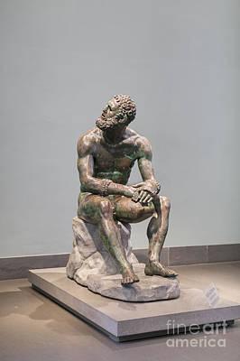 Statue Portrait Photograph - Boxer At Rest by Roberto Morgenthaler