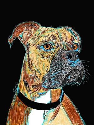 Boxer - Bud Print by Bert Hornbeck