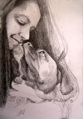 Boxer Kisses Original by Lorraine Zaloom