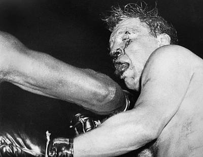 Heavyweight Photograph - Boxer Near His Limit by Underwood Archives