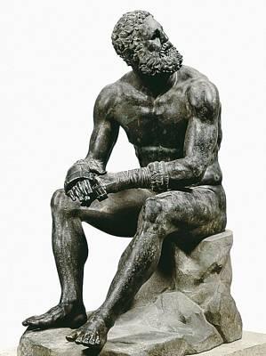 Statue Portrait Photograph - Boxer Seatted. 1st C. Hellenistic Art by Everett
