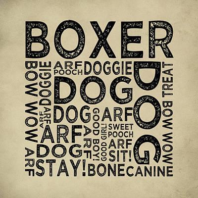 Boxer Typography Print by Flo Karp